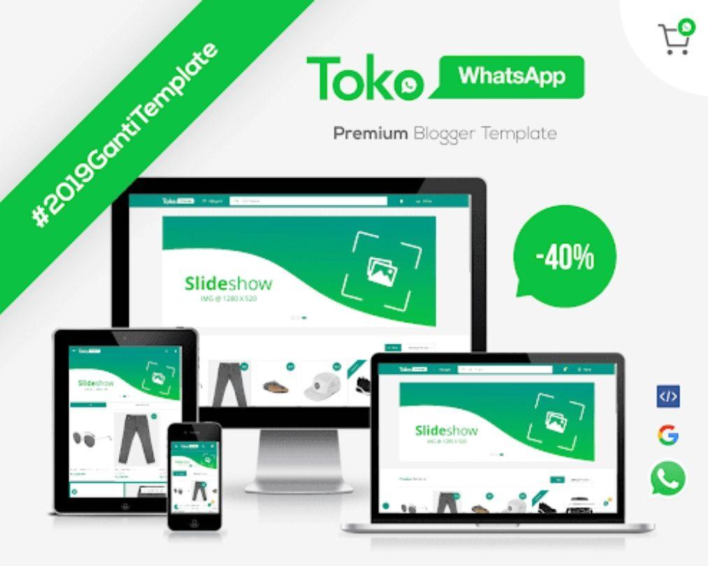 Template Toko Whatshapp Premium Blogger Templa Desain