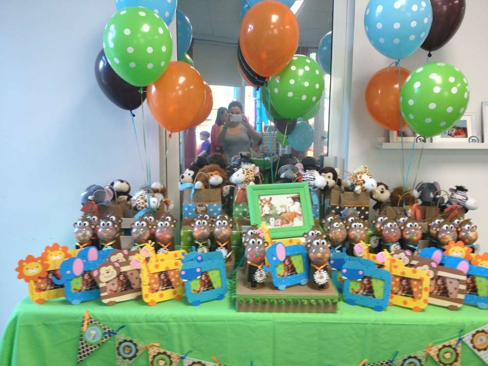 Baby Safari Birthday Party Ideas Safari birthday party Birthday