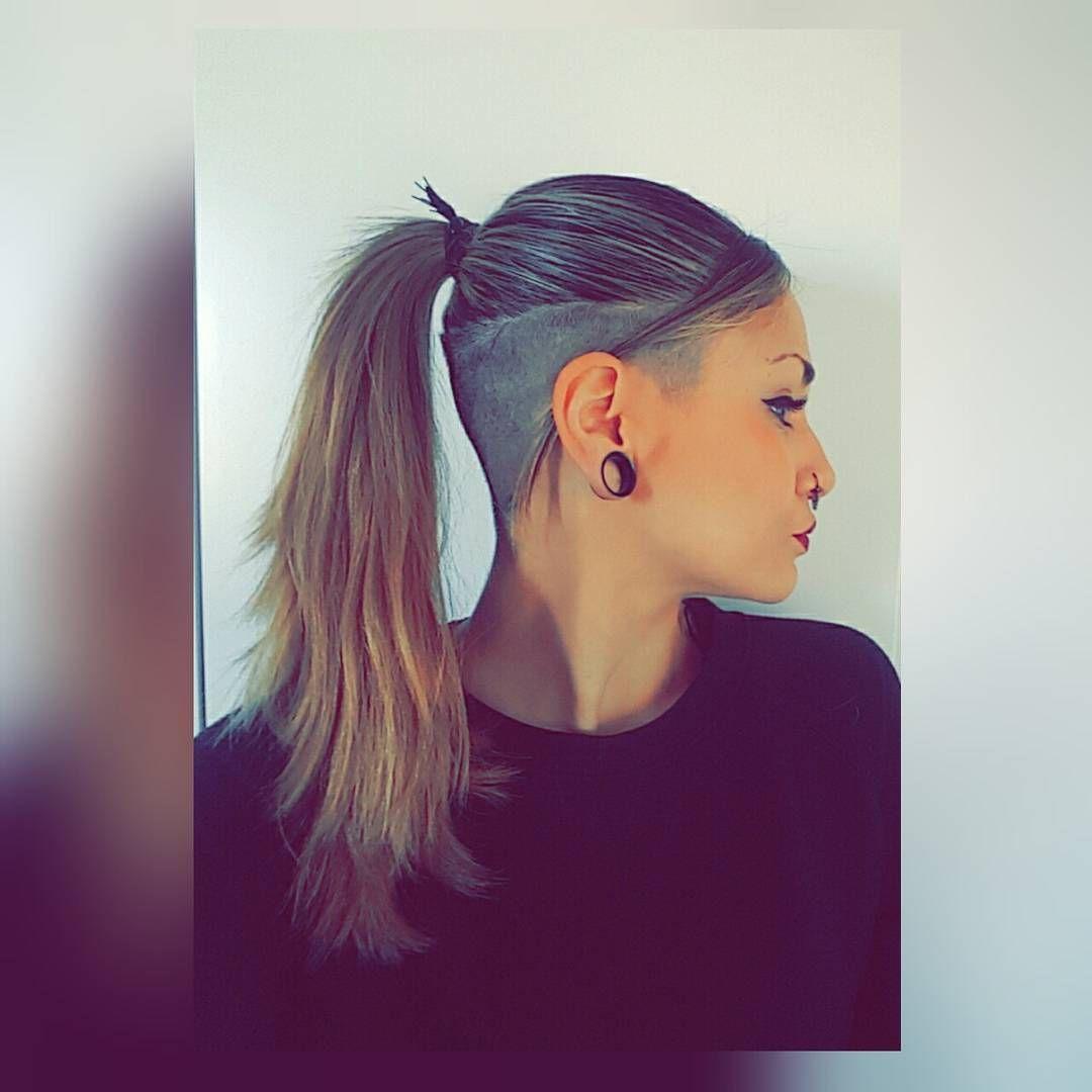 Undercut undercutgirl undershave 360undercut shavedsides undercut undercutgirl undershave 360undercut shavedsides ponytail urmus Images