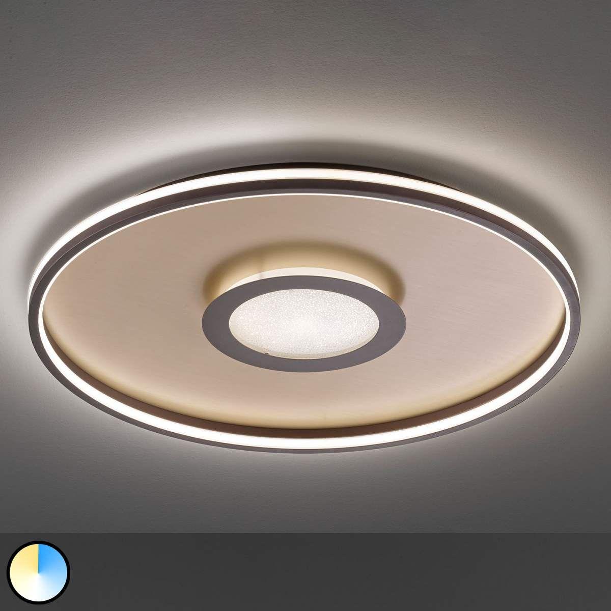 LED Deckenleuchte Joline Rostbraun Deckenlampe Rund