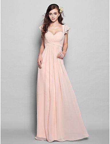 Vestido de Dama de Honor Largo Rosa Perla   Vestidos de Fiesta Baratos Blog f79d4f21e8a8
