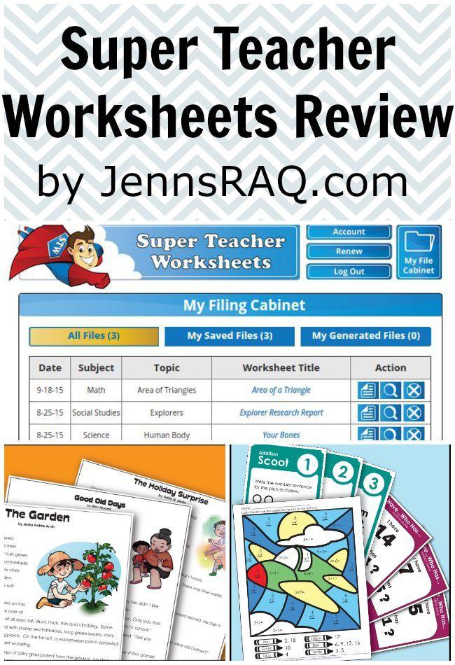 Super Teacher Worksheets Review as seen on JennsRAQ.com | Kids ...