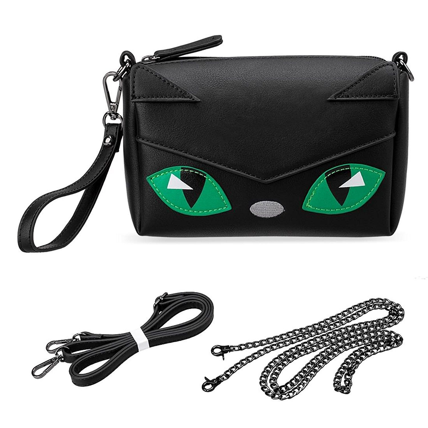 My bag is watching you...  p BMC PU Faux Leather Small Size Cute Animal  Face Crossbody Clutch Handbag - Kitty Cat. 90816f46d3586