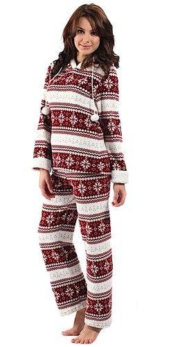 LUXURY CORAL FLEECE Womens Fair Isle ONESIE Onesies Pyjamas ...