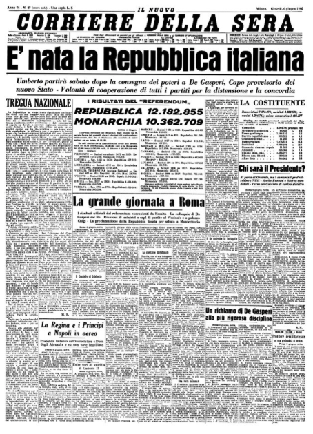 Luciano Fontana On Twitter Historical Newspaper Italian Newspapers Historical Moments