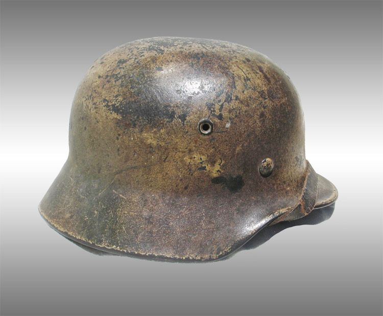 Normandy Camo German Helmet | Ma  k | German helmet, Helmet, German