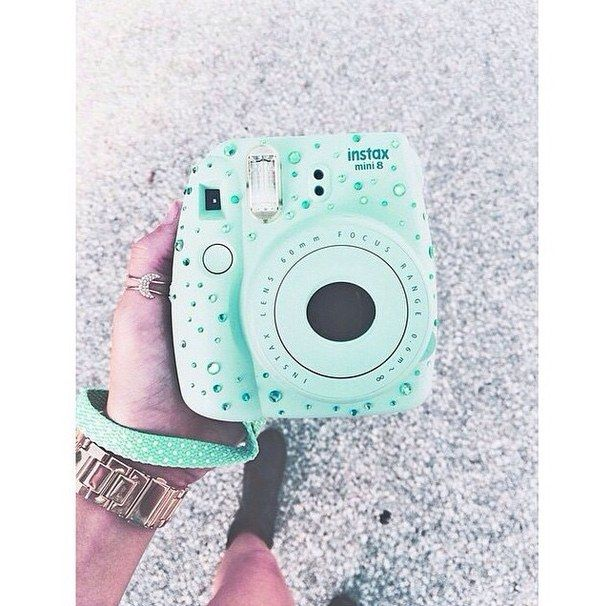Populaire camera, cameras, fujifilm, mint green, photography, polaroid  LT91