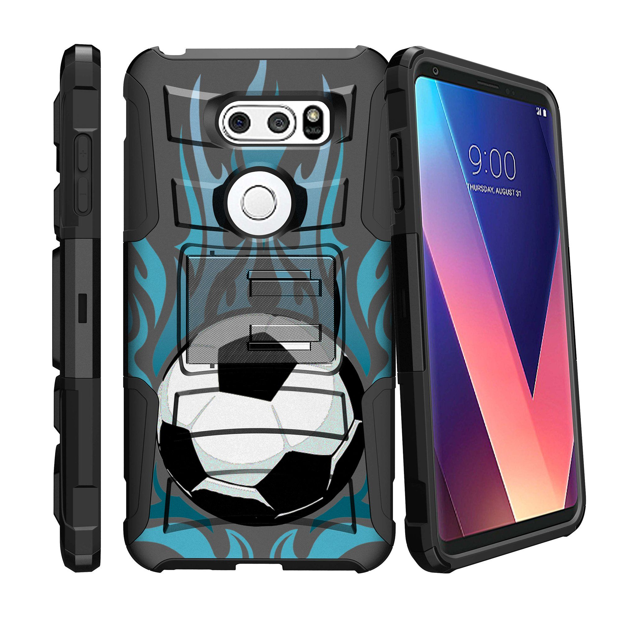 LG V30 | V30 Plus Case [ Sporty Collection ] Case w/ Holster & Kickstand