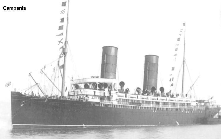 Cunard liner Campania 1893-1918