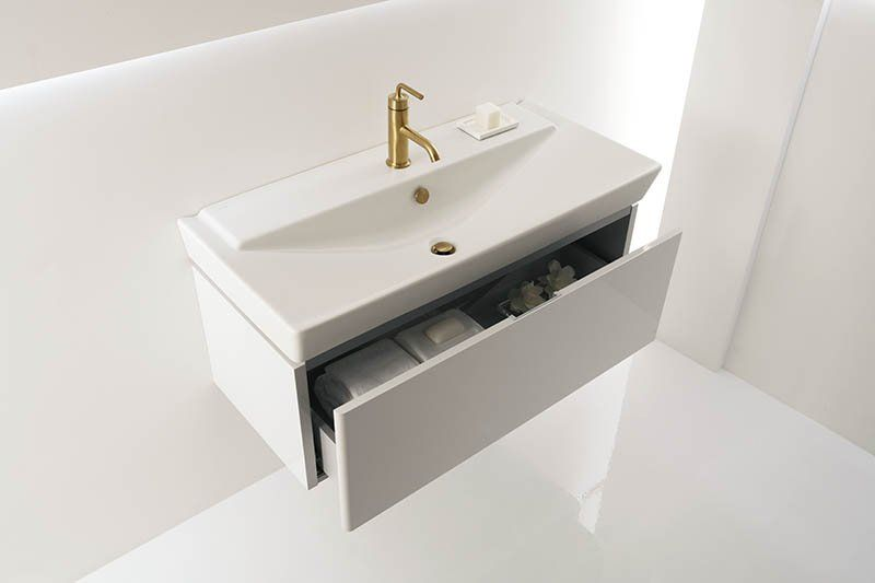 Kohler K 5026 1 Reve 39 3 8 Fireclay Drop In Bathroom Sink With1 Hole Drilled And Overflow Faucetdir Drop In Bathroom Sinks Small Bathroom Bathrooms Remodel