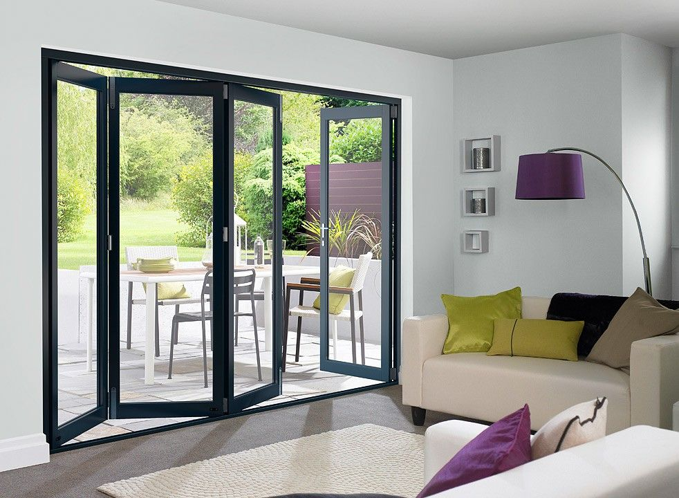 Master Grey 3m Approx 10ft Bifold Doors White Bifold Doors External Bifold Doors Bifold Doors Onto Patio