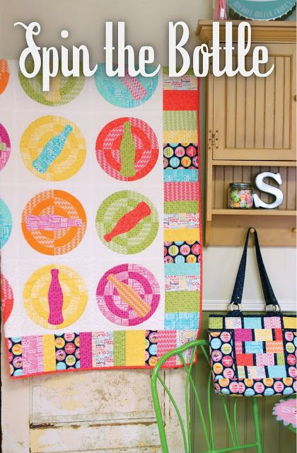 Quilt Pattern ~ SPIN THE BOTTLE ~ by Emily Herruck Designs