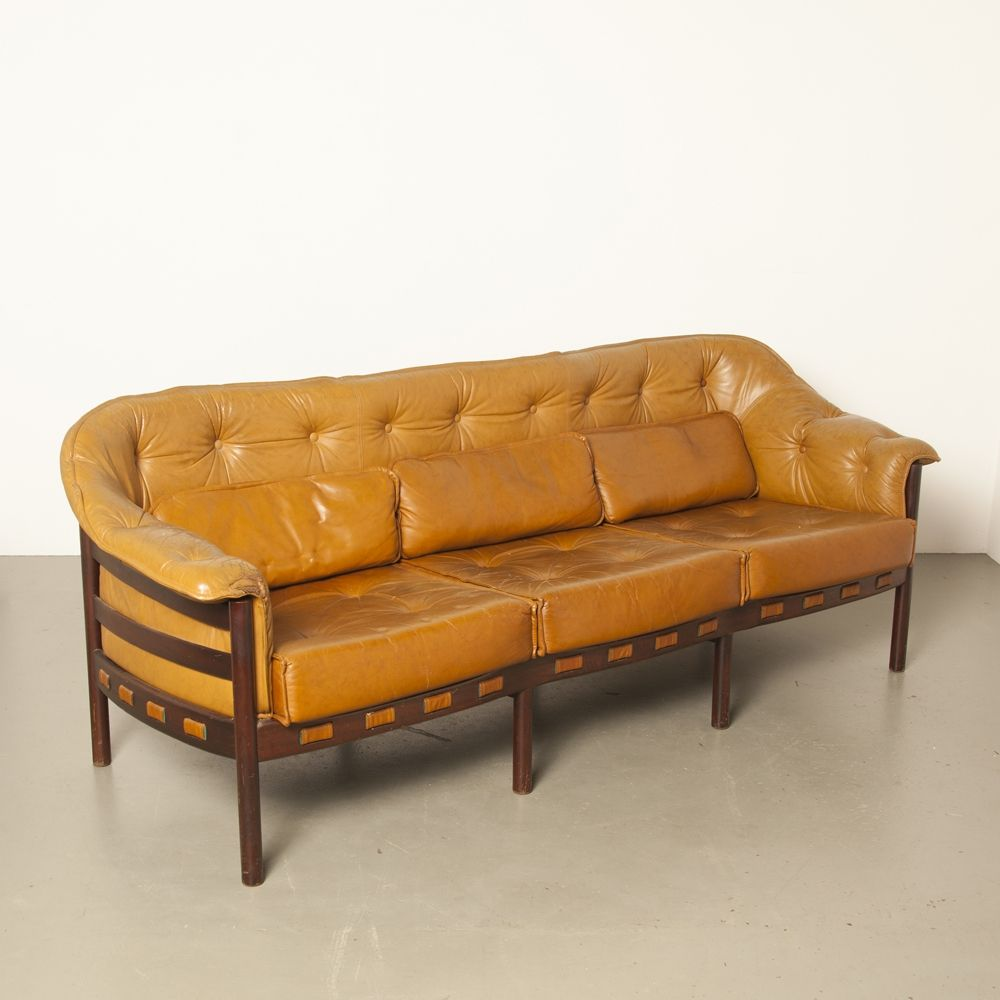 Fantastic Light Brown Leather Sofa By Arne Norell For Coja 92294 Andrewgaddart Wooden Chair Designs For Living Room Andrewgaddartcom