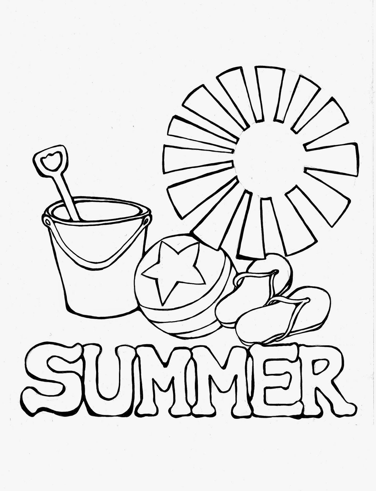 Summer Printable Coloring Pages For Toddlers Display