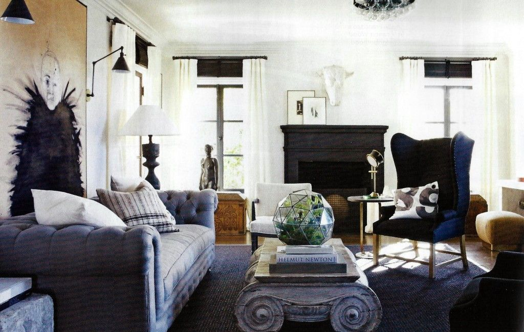 living room in blue%0A elle decor  blue living roomedit