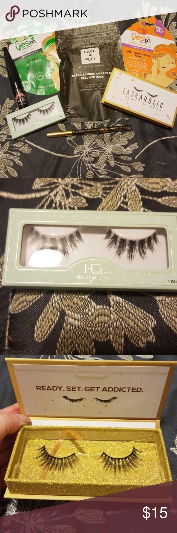56c741ac7e2 Makeup Bundle💄 Brand New unused makeup bundle!!🖤💄 1 pair Lashaholic  luxury