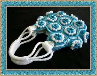 Delicadezas en crochet Gabriela: Bolso de motivos