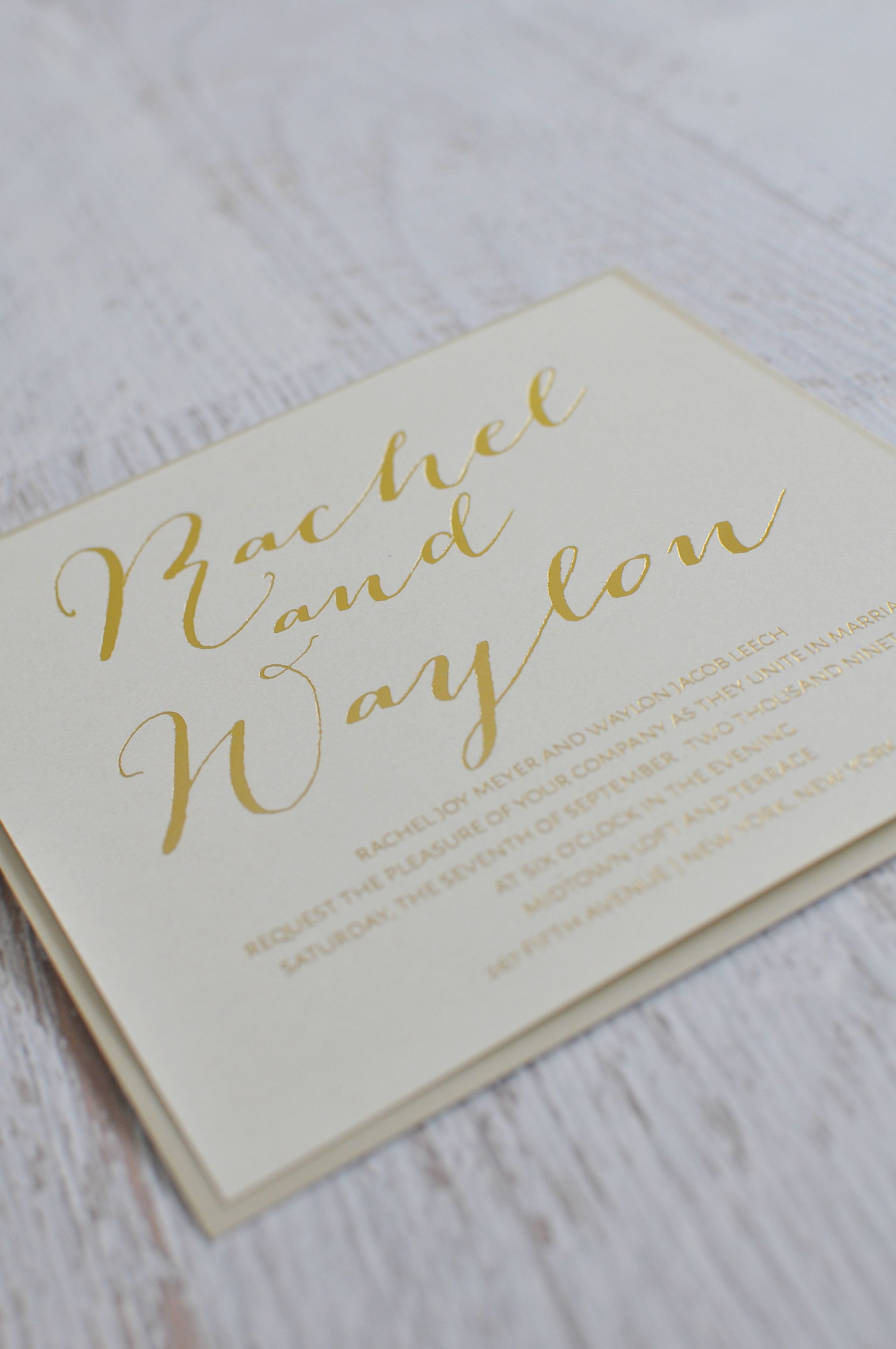 Signature Style Foil Invitation Signature style Weddings and