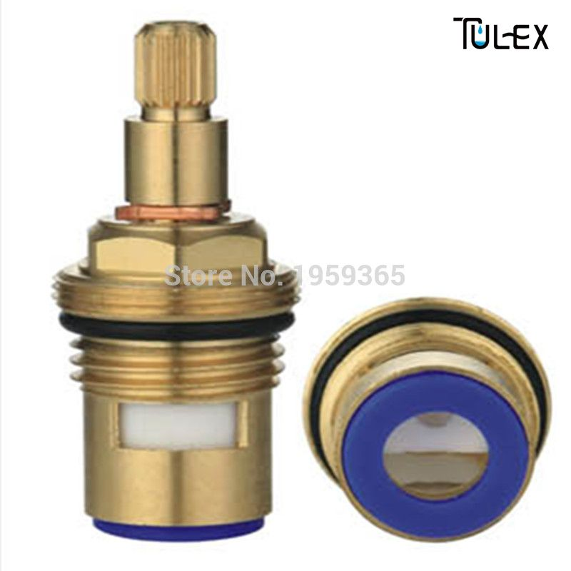 High Standard Ceramic Disc Faucet Cartridge Spout Brass Replacement Water Mixer Tap Inner Valve Core Quarter Turn Best Price Mixer Taps Soap Dispenser Bathroom Fixtures