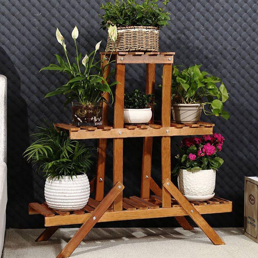 1x Plant Wooden Display Shelf Type Plant Stand 3x Garden Plant Tools Water Proof Indoor O Plant Stand Indoor Wooden Plant Stands Wooden Plant Stands Indoor