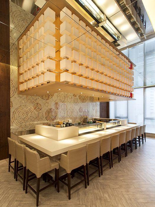 Kishoku 1 Kitchen Counter Design Display Anese Buffet Lighting