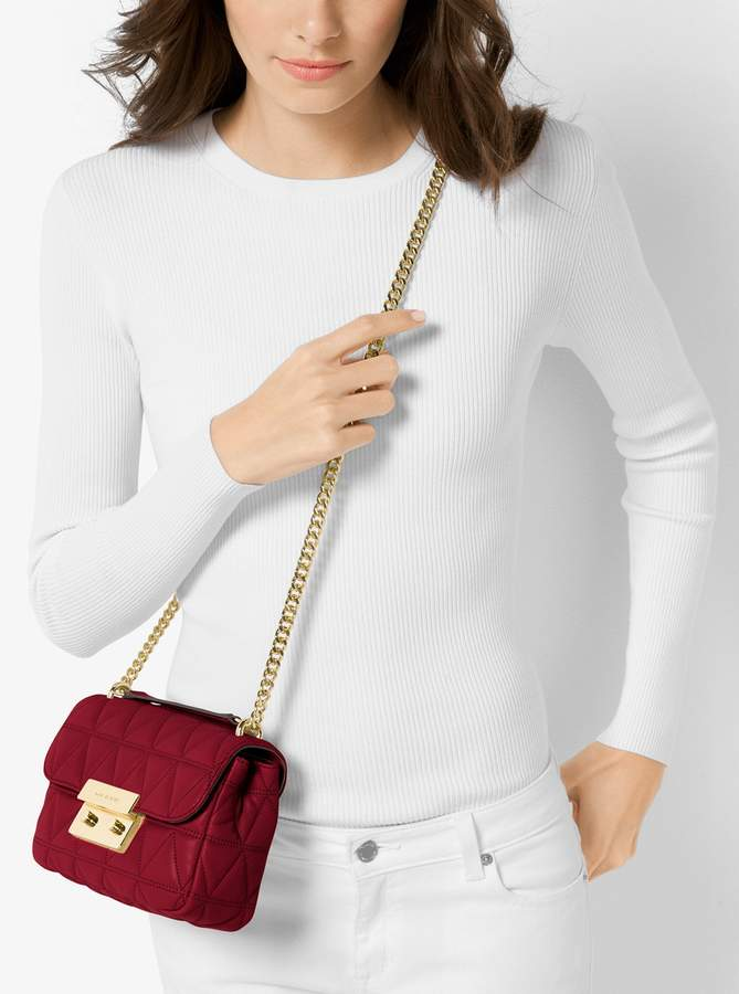 627a8306b8bcd2 MICHAEL Michael Kors Sloan Small Quilted-Leather Crossbody ...