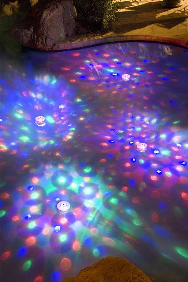 Eclairage Flottant Disco Pour Piscine Ou Spa Mariage Pinterest