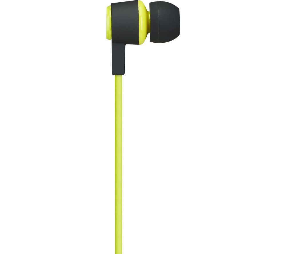 7d016d90cfe Buy GOJI GSPINBT16 Wireless Bluetooth Headphones – Black & Green, Black  Price: £24.99 - Bluetooth headphones for wireless - Sweat and water  resistant design ...