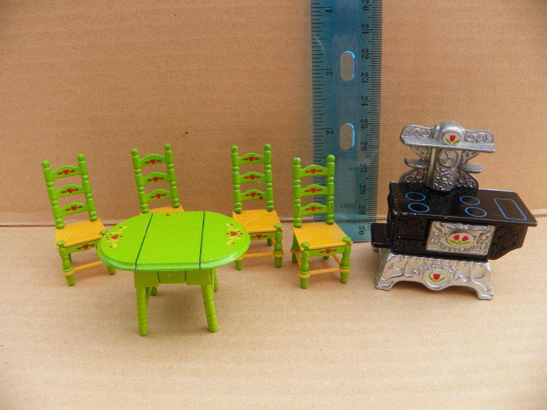 Dolls House Kitchen Furniture Vintage Mattel The Littles Miniature Die Cast Doll House