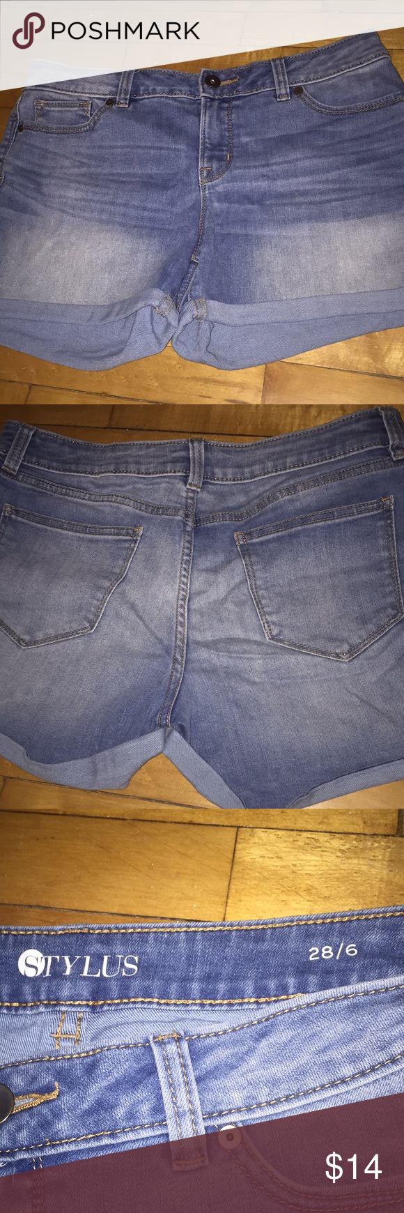 74ddbe9e71 Comfy Jean Shorts Super comfortable Jean Shorts that hit a little bit above  mid thigh. 3 inch inseam when cuffed. STYLUS Shorts Jean Shorts