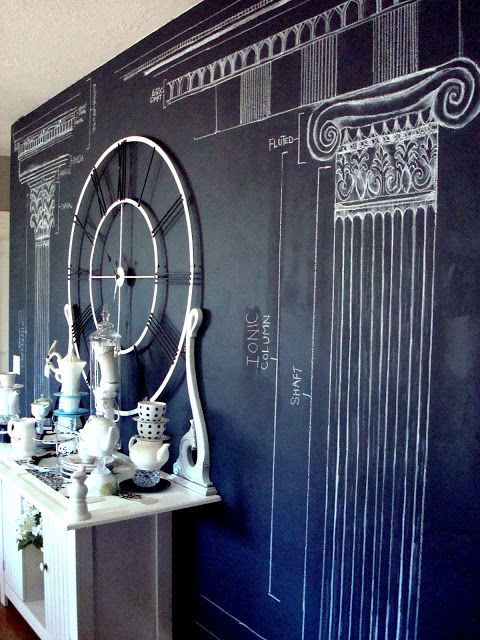 All Things Thrifty Home Accessories and Decor: Chalkboard Paint Wall: Blue Ribbon Award