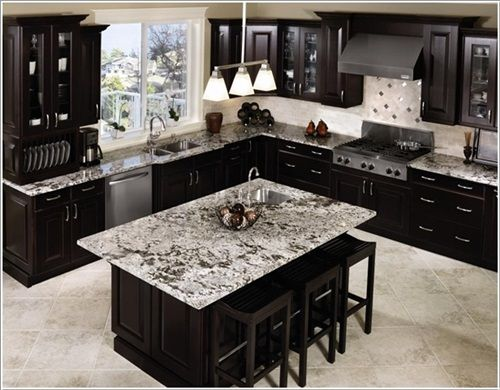 Elegant Black And White Worktops For Elegant Kitchens  Home Classy Black And White Kitchen Designs Decorating Inspiration
