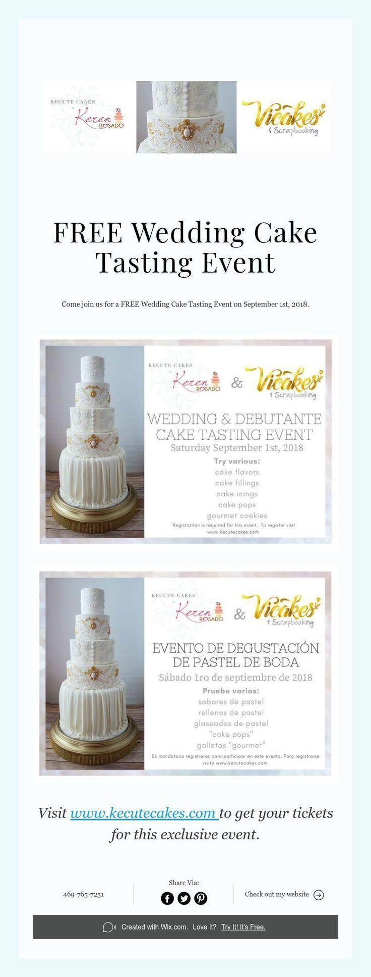 Free Wedding Cake Tasting Event Wedding Cake Tasting Cake Tasting Free Wedding