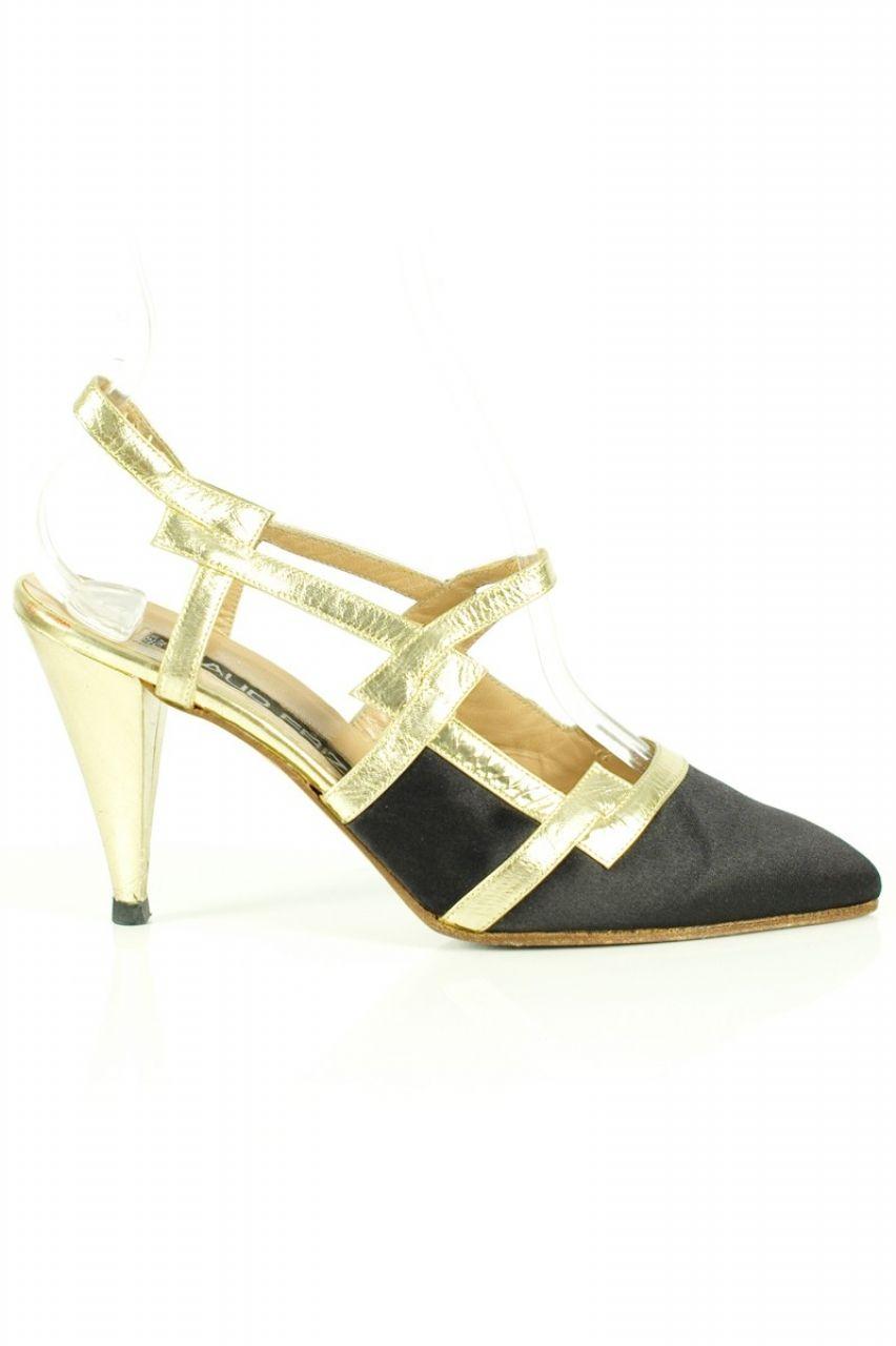 9241d5914c8 VINTAGE   MAUD FRIZON 80s sling back shoes