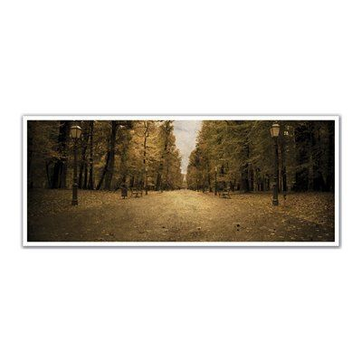 JP London PAN5167 uStrip London Lamp Post Park Trees High Resolution Peel and Stick Removable Wall Mural