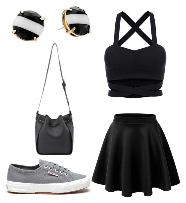 """Untitled #146"" by loren-aah-whitehead on Polyvore featuring Superga and Kate Spade"