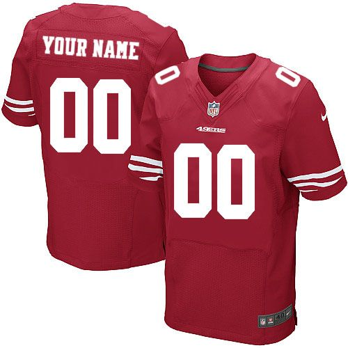 bfbb0991971 Nike San Francisco 49ers Customized Red Stitched Elite Men s NFL Jersey