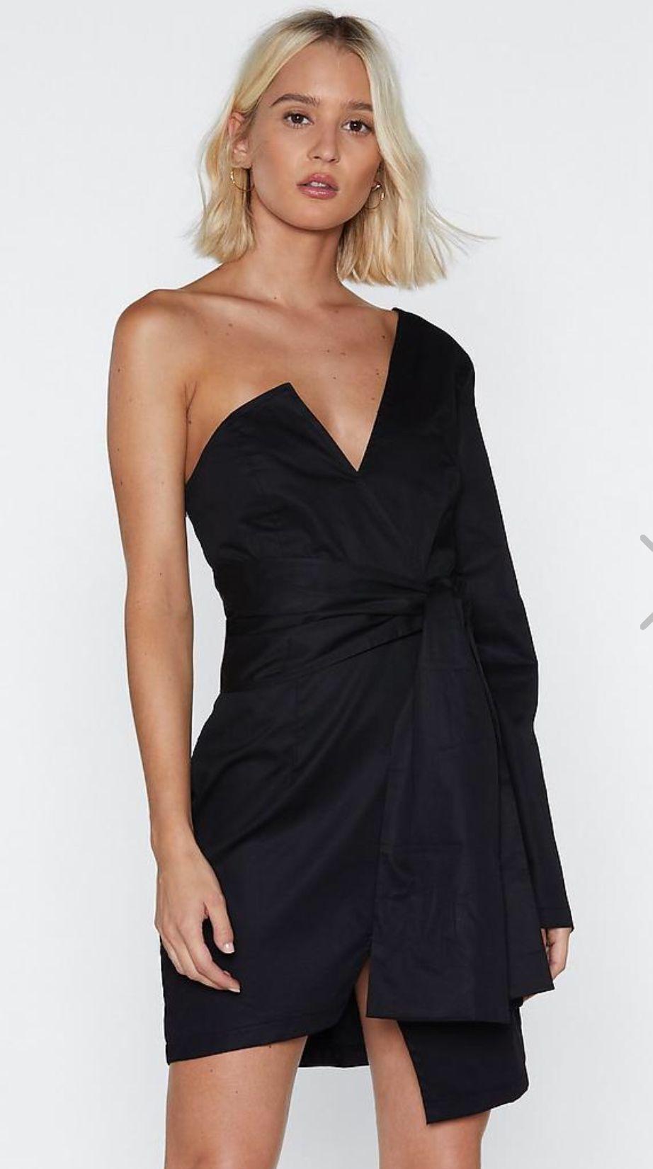 Kinda Into It One Shoulder Dress 32.00 One shoulder
