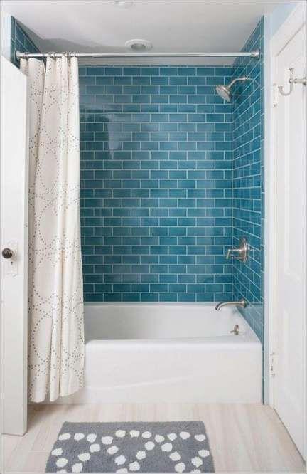 20 ideas bathroom grey walls teal subway tiles  grey