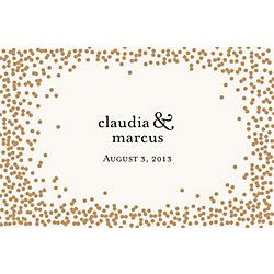 Gold Confetti Personalized Placemats Paper Source Custom Placemats Personalised Placemats Placemats