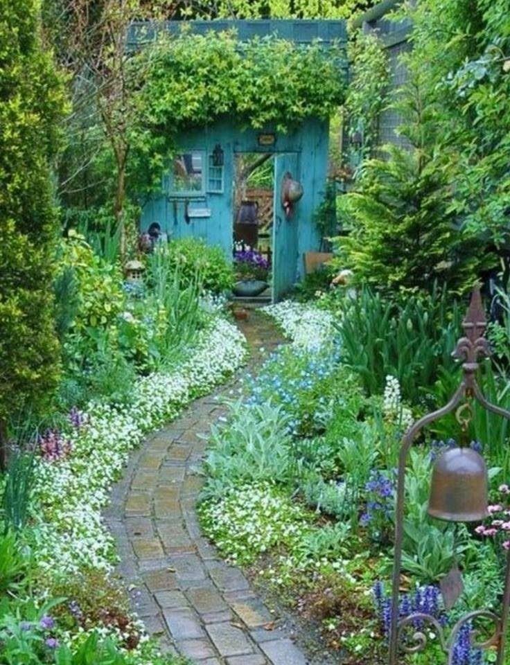 Wonderful pathway leading to a door to the 'secret' garden