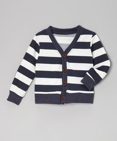 706e4d8e1d48 Take a look at this Navy Stripe Cardigan - Toddler   Boys by ...