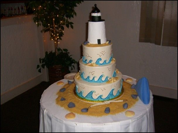 Lighthouse Wedding Cake Toppers