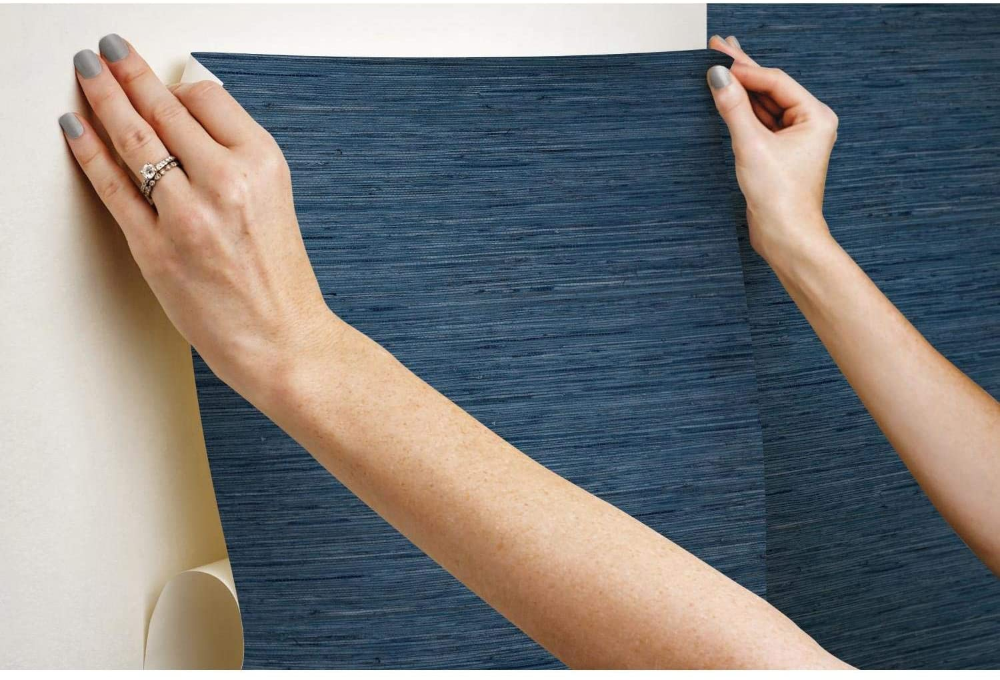 Roommates Grasscloth Peel And Stick Wallpaper Grey 20 5 X 16 5 Feet Rmk11078wp Amazonsmile Peel And Stick Wallpaper Grasscloth Wood Wallpaper