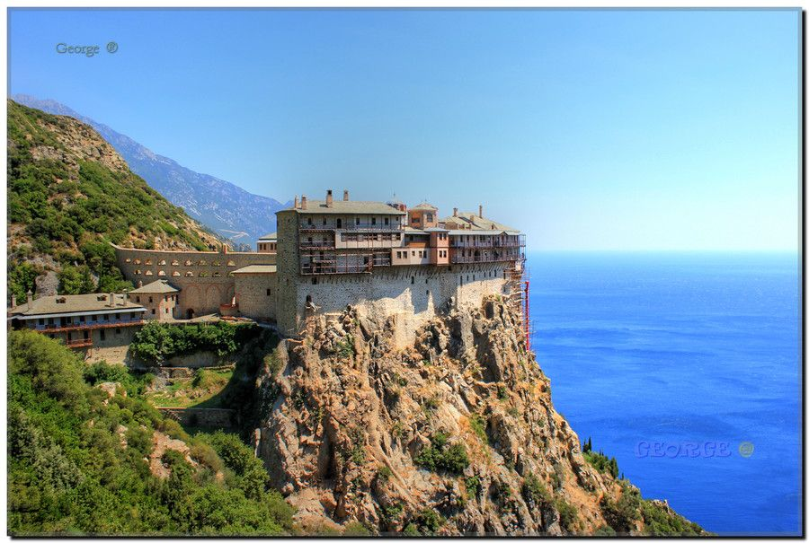 Mt Athos - Holy Monastery of  Simonos Petra  Simonopetra Chalkidiki , Greece by George @ aki on 500px