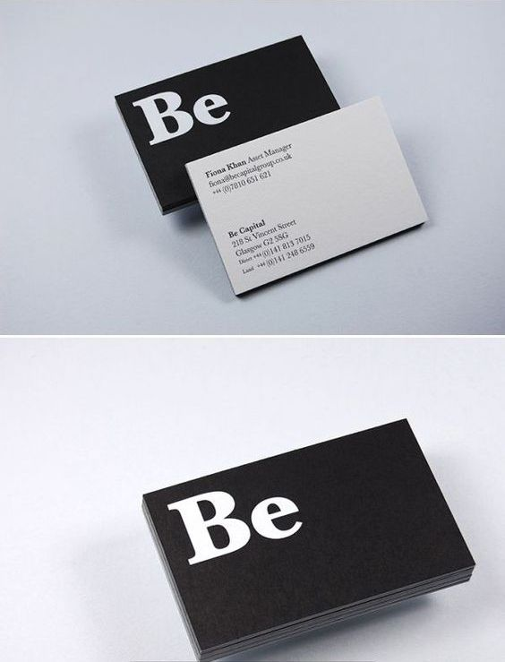 Font Based Style Business Card Design Card Design Cards