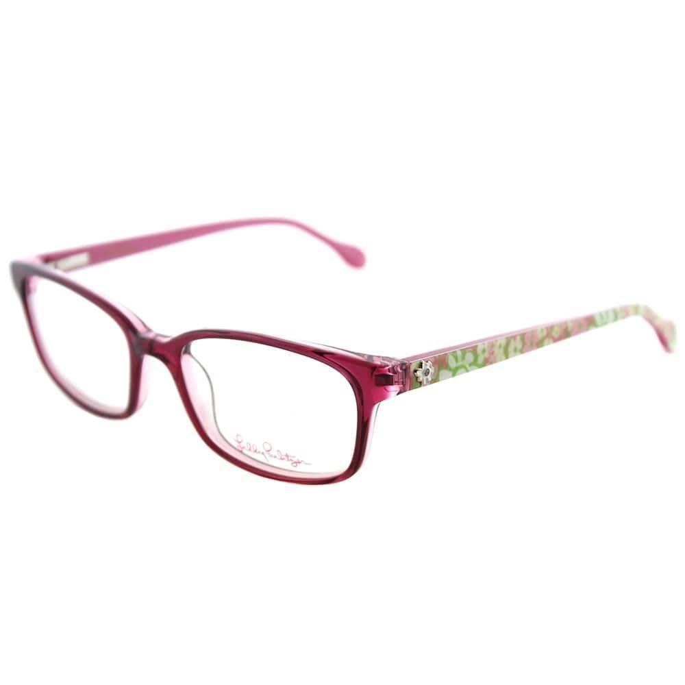 Lilly Pulitzer Rectangle Parris Girls PK Children Frame Eyeglasses ...