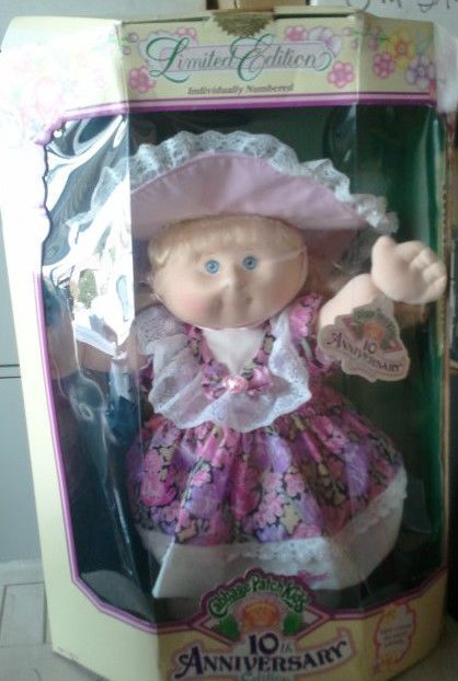 10th Anniversary Edition 1992 Cabbage Patch Kid Doll Cabbage Patch Kids Dolls Cabbage Patch Kids Patch Kids