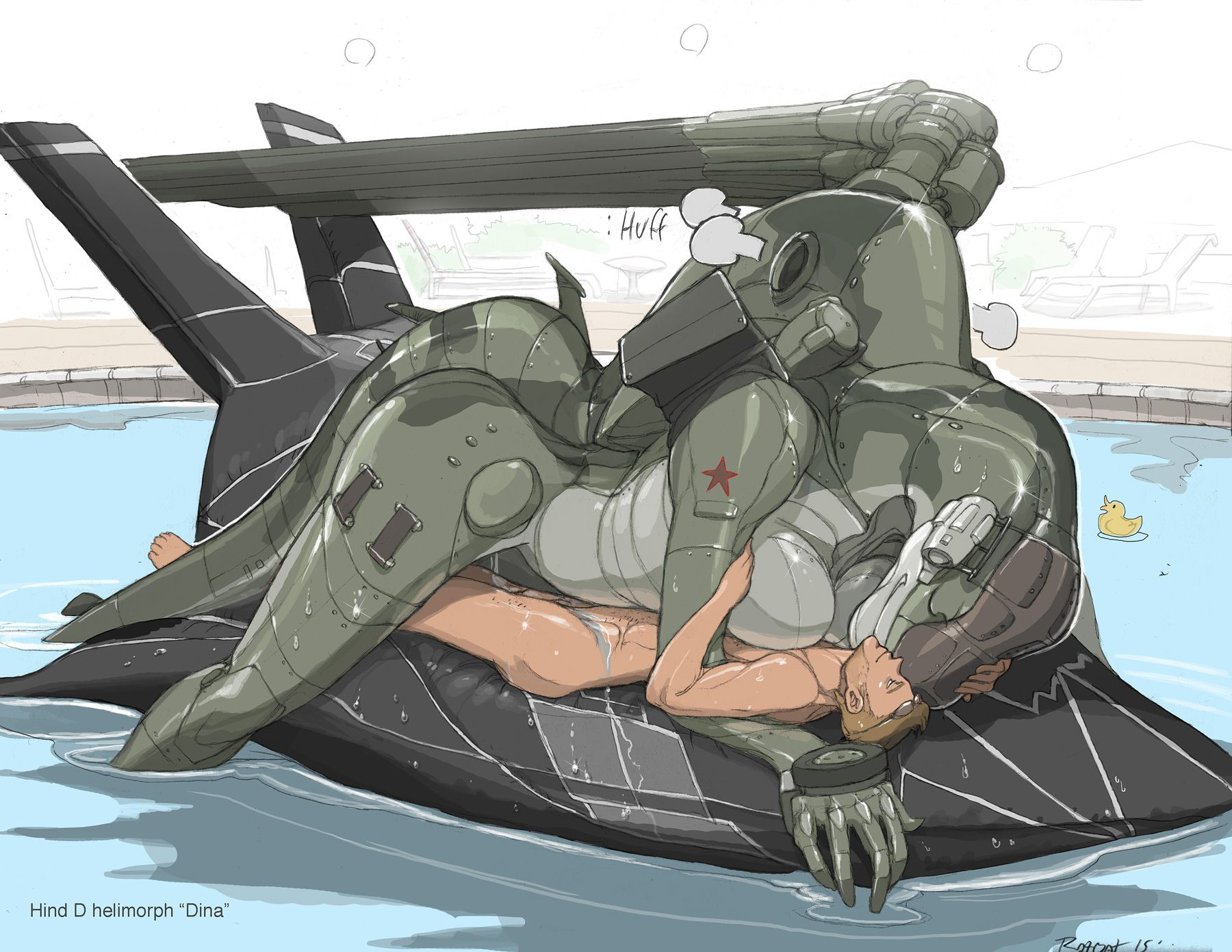 Anthropomorphic Porn - e621 aircraft anthro anthrofied barely_visible_genitalia breasts cuddling  duo f-117 female hi_res hind human inflatable