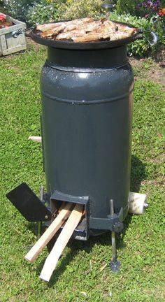 Home Made Rocket Stove Fogao Exterior Fornos Churrasqueira